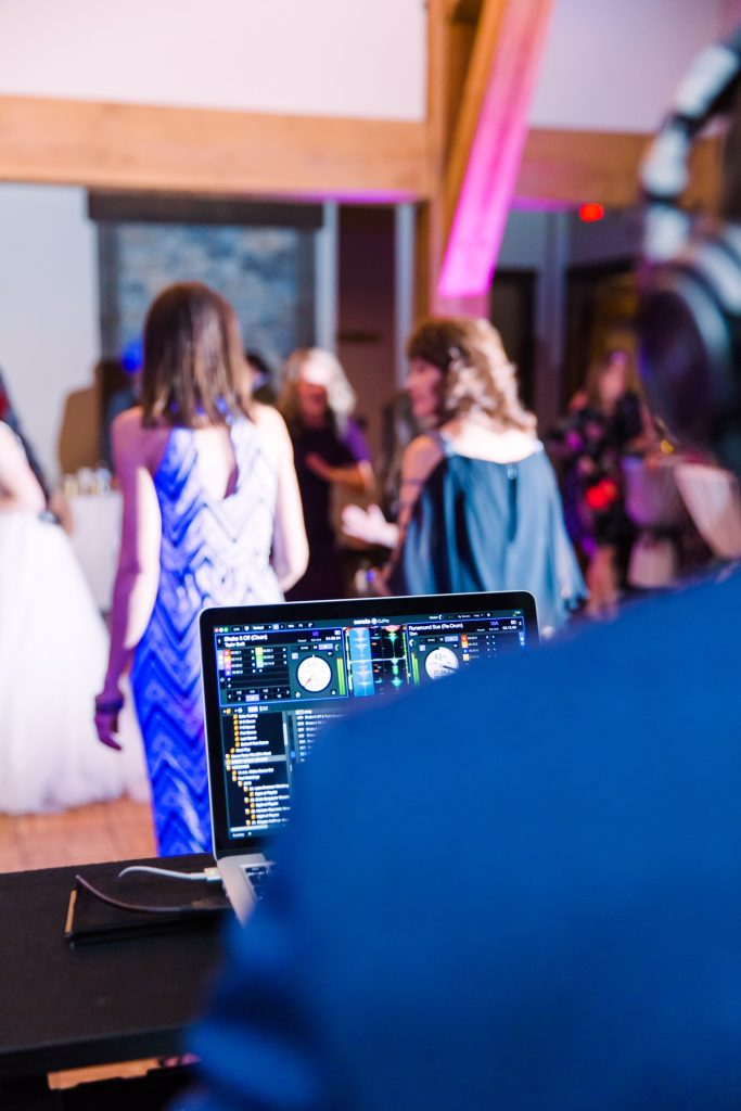 DJ Eric Rhodes at a wedding at Blackhawk on the River in McCall, Idaho