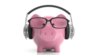 Piggy Bank with Headphones - Wedding DJ Boise Idaho